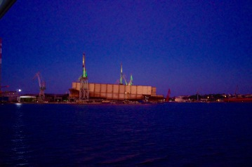arriving at Pula harbour