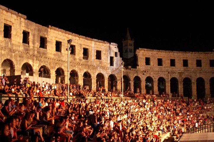 opening concert in the Amphitheatre
