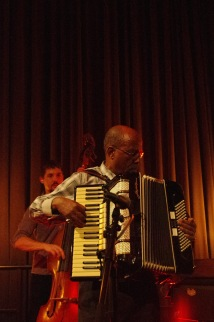 Hailu Mergia with his accordeon