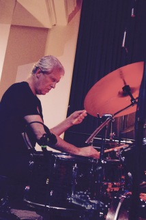 Tony Buck on the drums